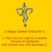 Happy Ganesh Chaturthi 180 x180