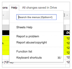 menu-search-1- google sheets