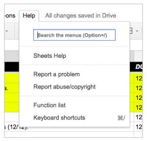menu-search-1- google sheets