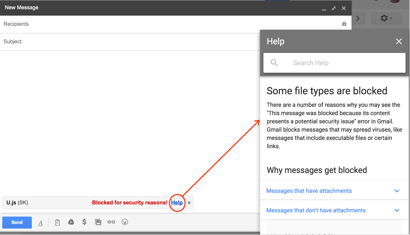 Gmail will restrict js file attachments