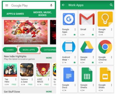 Google Play for Work on Legacy Devices