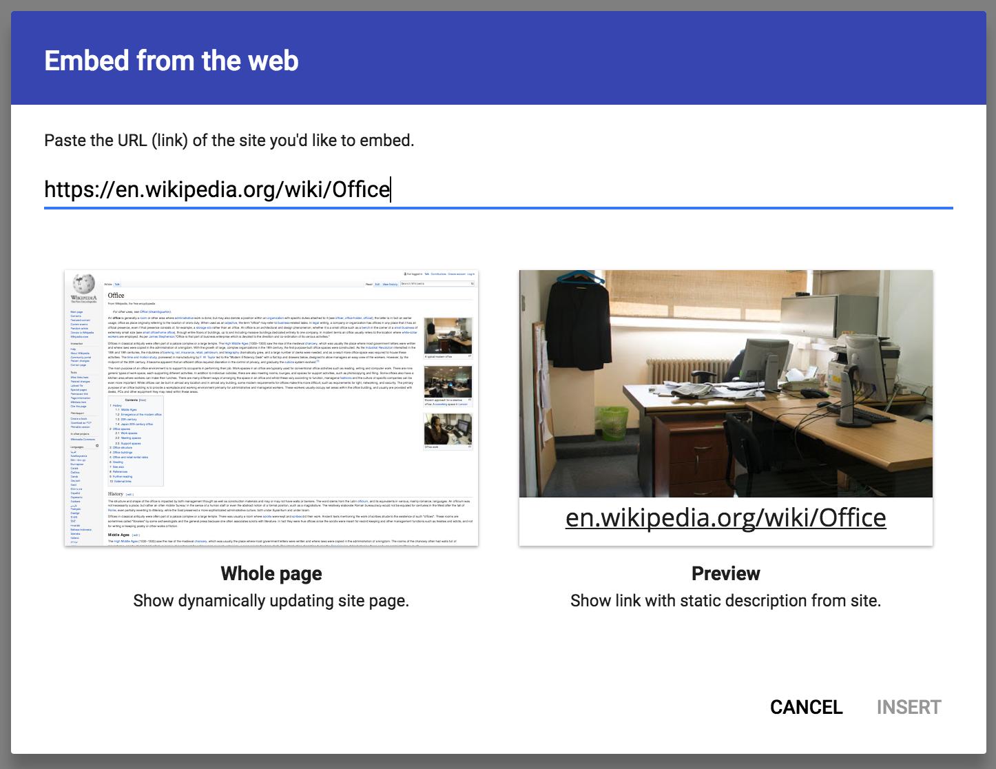 Embed Webpage