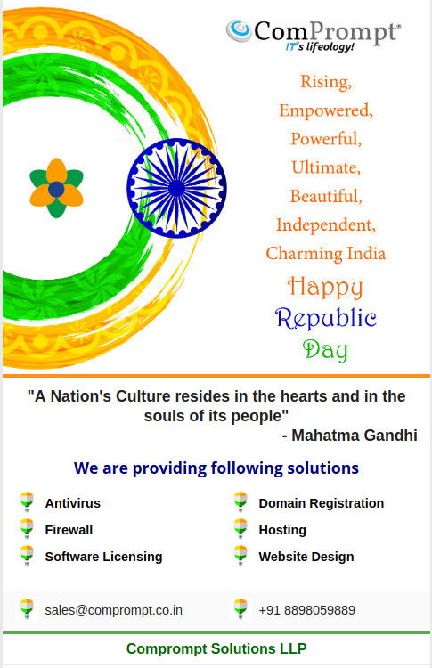 comprompt-solutions-llp-republic-day-2018