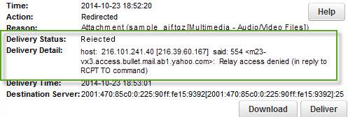 SMTP And ESMTP Error Code List