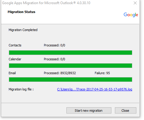 Google Migration Tool for Outlook Migration